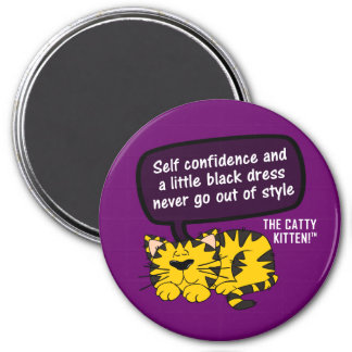 Self confidence goes a long way 3 inch round magnet