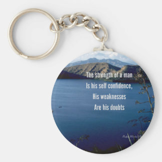Self confidence-motivational quotation keychain