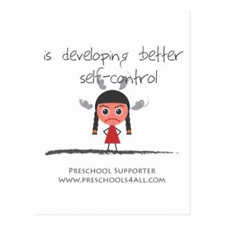 self-contorol-girl postcard