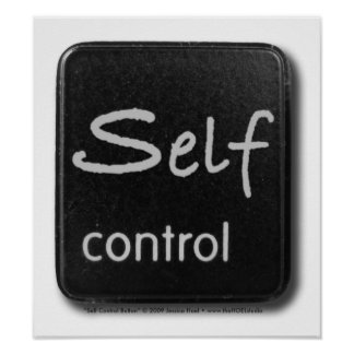 Self Control Button Print