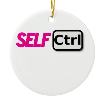 USA Themed Self control ceramic ornament