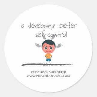 Self Control Classic Round Sticker