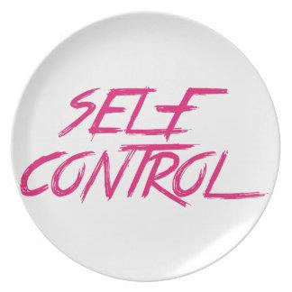 SELF CONTROL DINNER PLATE