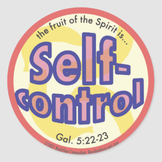 Self-Control Fruit of the Spirit Spots Sticker