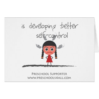 Self Control Girl Greeting Cards