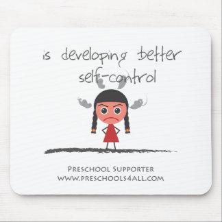 Self Control Girl Mouse Pad