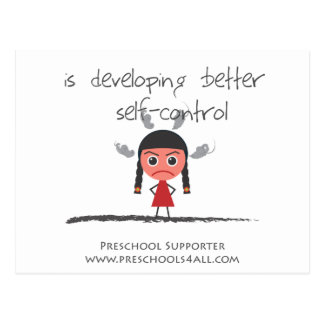Self Control Girl Post Cards