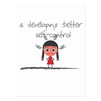 self-control-girl postcard