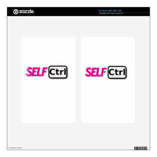 Self control kindle fire decals