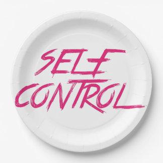 SELF CONTROL PAPER PLATE