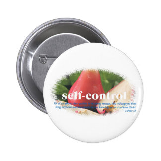 Self Control Pinback Button
