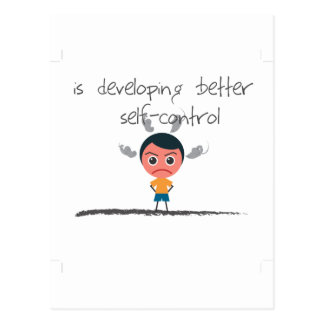 self-control postcard