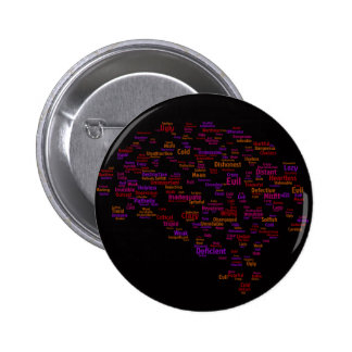self-criticism-440303 TYPOGRAPHY self criticism th Pinback Buttons