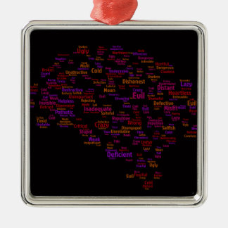 self-criticism-440303 TYPOGRAPHY self criticism th Christmas Ornament