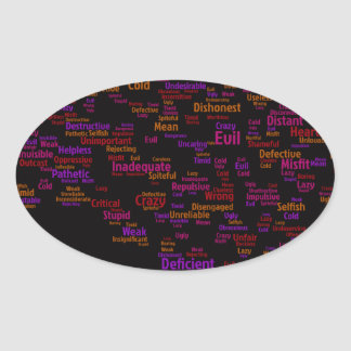 self-criticism-440303 TYPOGRAPHY self criticism th Oval Stickers