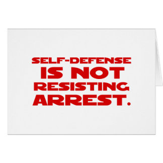 Self-Defense1 Greeting Card