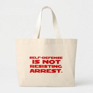 Self-Defense1 Large Tote Bag