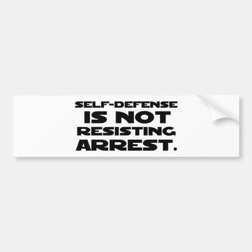 Self-Defense3 Bumper Sticker