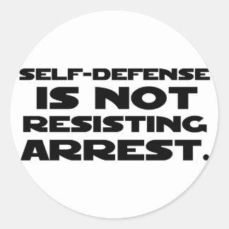 Self-Defense3 Classic Round Sticker
