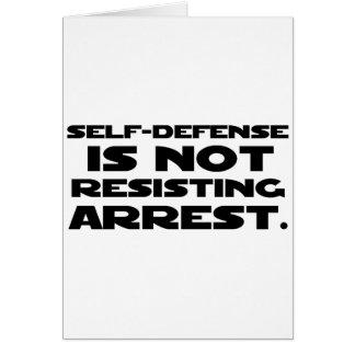 Self-Defense3 Greeting Card