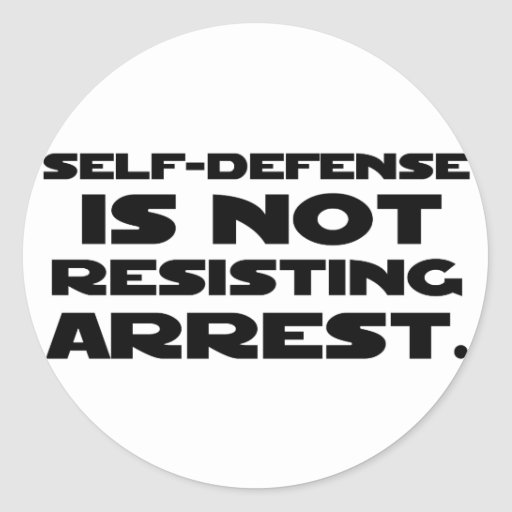 Self-Defense3 Round Sticker