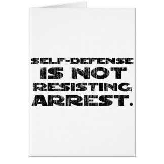 Self-Defense3 Washed Heavy Greeting Card