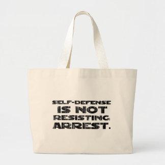 Self-Defense3 Washed Heavy Jumbo Tote Bag