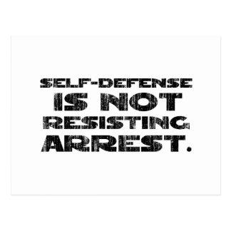 Self-Defense3 Washed Heavy Postcard