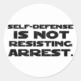 Self-Defense3 Washed Light Classic Round Sticker