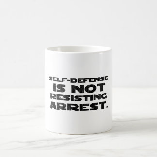 Self-Defense3 Washed Light Coffee Mugs