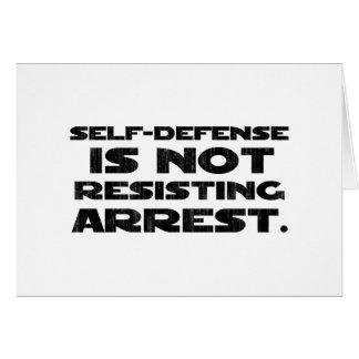 Self-Defense3 Washed Light Greeting Card