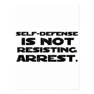 Self-Defense3 Washed Light Postcard