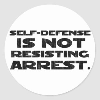 Self-Defense3 Washed Light Stickers