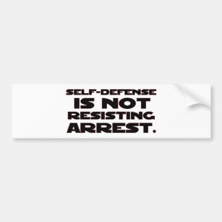 Self-Defense4 Bumper Sticker