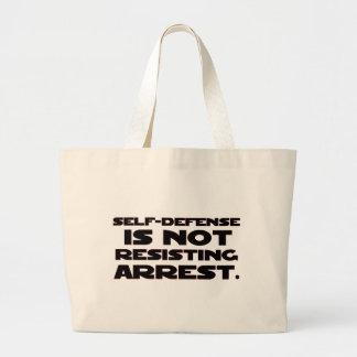 Self-Defense4 Large Tote Bag