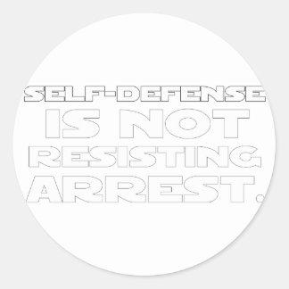 Self-Defense5 Classic Round Sticker