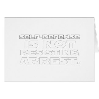 Self-Defense5 Greeting Card