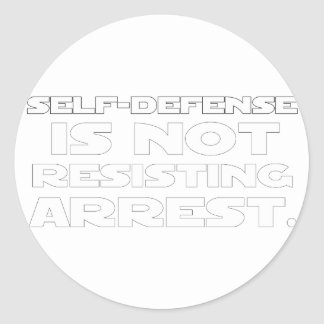 Self-Defense5 Round Stickers