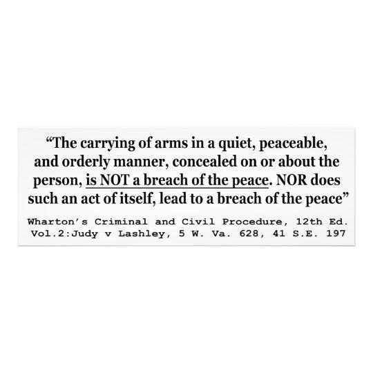 Self Defense Judy v Lashley 5 W Va 628 41 SE 197 Photo Print