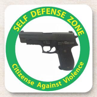 Self Defense Zone-Violence Beverage Coaster