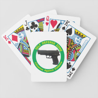 Self Defense Zone-Violence Bicycle Playing Cards