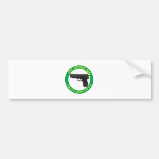 Self Defense Zone-Violence Bumper Sticker