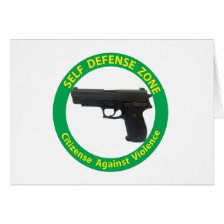 Self Defense Zone-Violence Card