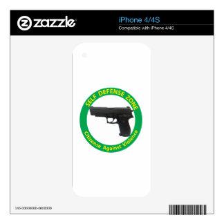 Self Defense Zone-Violence iPhone 4S Skin