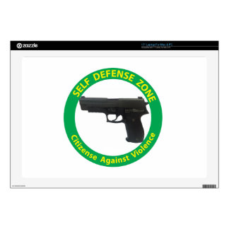 Self Defense Zone-Violence Laptop Decal