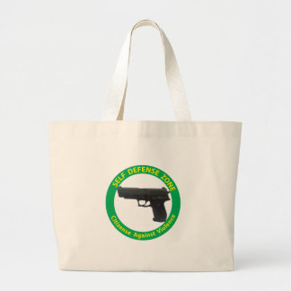 Self Defense Zone-Violence Large Tote Bag