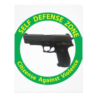 Self Defense Zone-Violence Letterhead