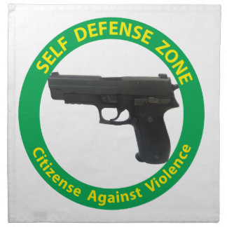 Self Defense Zone-Violence Napkin