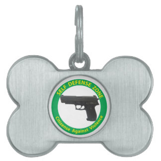 Self Defense Zone-Violence Pet Name Tag