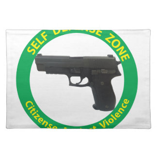 Self Defense Zone-Violence Placemat